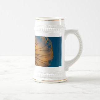Orange Jellyfish Closeup Beer Stein