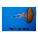 Orange Jellyfish Greeting Card