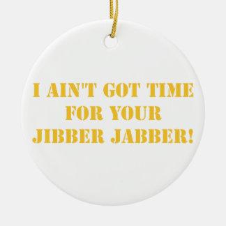 Orange Jibber Jabber Ceramic Ornament
