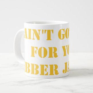 Orange Jibber Jabber Giant Coffee Mug