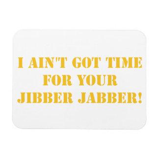 Orange Jibber Jabber Rectangular Photo Magnet