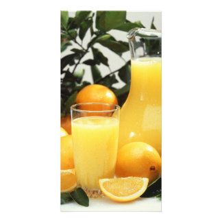 Orange juice card