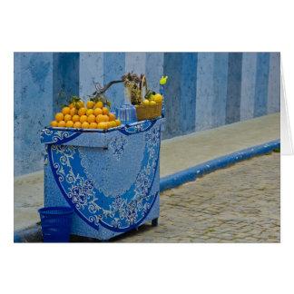 Orange juice cart card