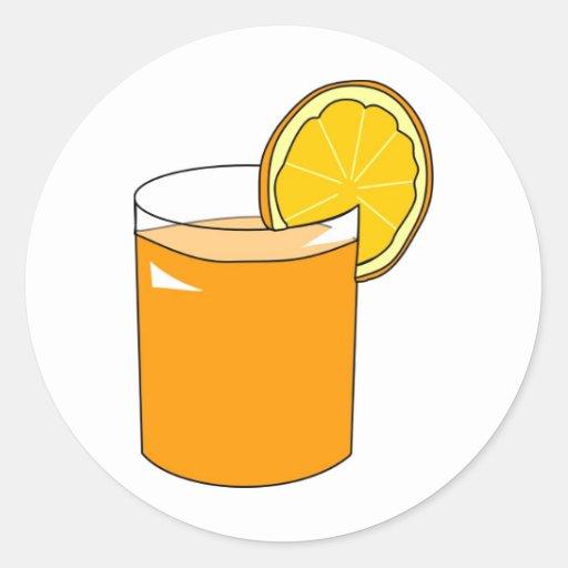 Orange Juice Classic Round Sticker