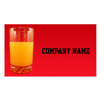 Orange Juice Double-Sided Standard Business Cards (Pack Of 100)
