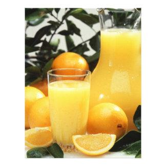 "Orange juice 8.5"" x 11"" flyer"