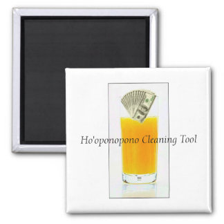 Orange Juice Ho'oponopono Cleaning Tool 2 Inch Square Magnet