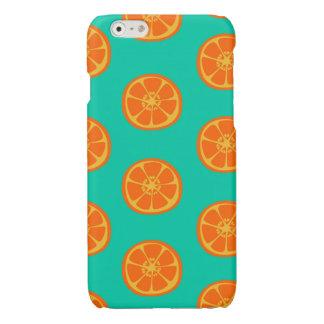 Orange Juice on Teal Glossy iPhone 6 Case