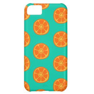 Orange Juice on Teal iPhone 5C Cover