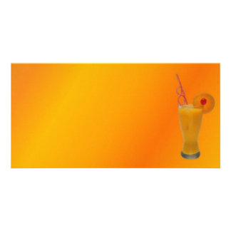 Orange Juice Photo Card