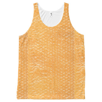 Orange Juice Pop Bubble Wrap Soda All-Over-Print Tank Top