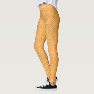 Orange Juice Pop Bubble Wrap Soda Leggings