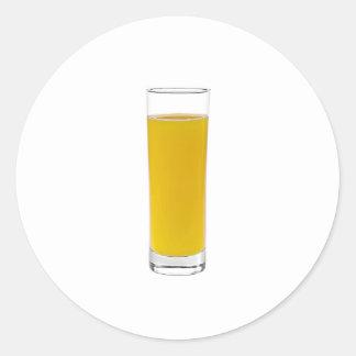 orange juice round sticker
