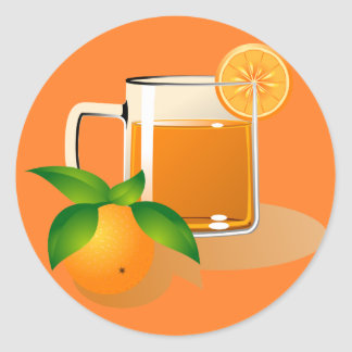 Orange Juice Sticker