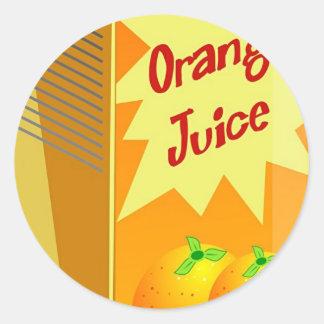 Orange Juice Stickers