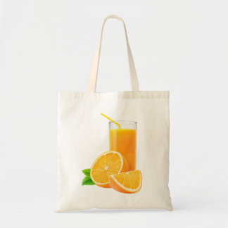 Orange juice tote bag