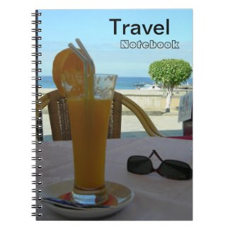 Orange Juice Travel Destination Notebook