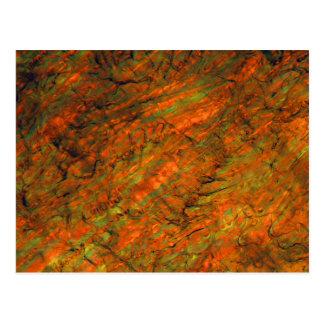 Orange juice under the microscope postcard