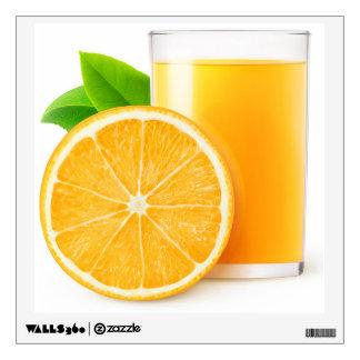 Orange juice wall sticker