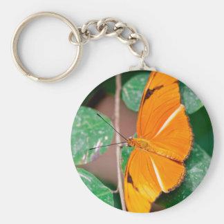 Orange Julia Butterfly Keychain