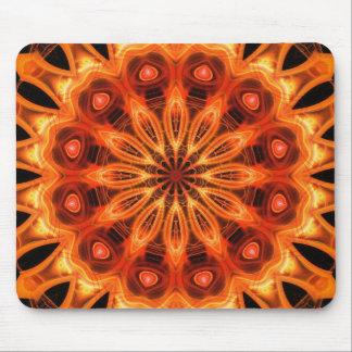 Orange Kaleidoscope 05 Mouse Pad