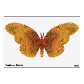 Orange Kaleidoscope Butterfly Wall Sticker
