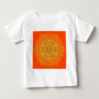 Orange Kaleidoscope: Hexagonal Artwork: Baby T-Shirt