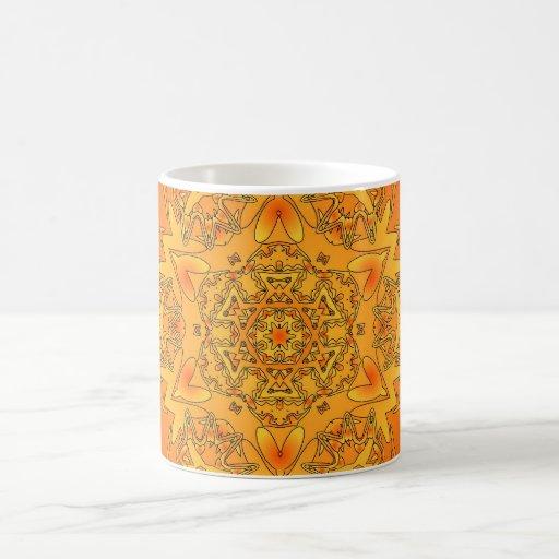 Orange Kaleidoscope: Hexagonal Artwork: Classic White Coffee Mug