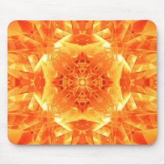 Orange Kaleidoscope Mouse Pad