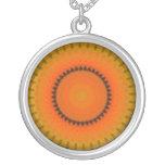 Orange   Kaleidoscope Necklace