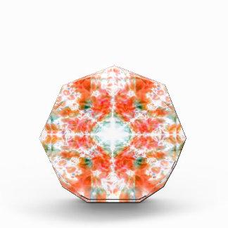 Orange kaleidoscope pattern acrylic award