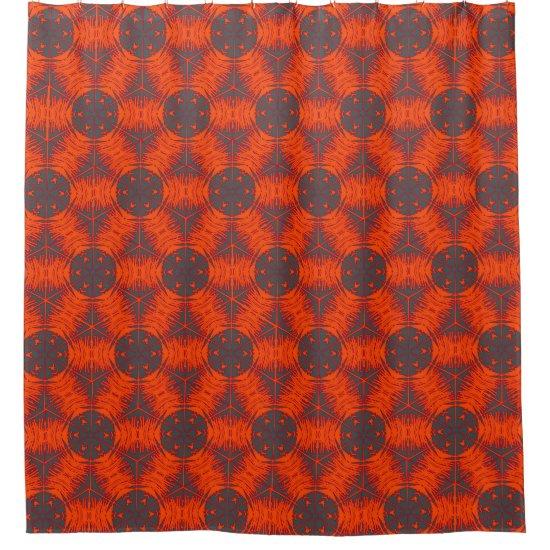 Orange Kaleidoscope Shower Curtain