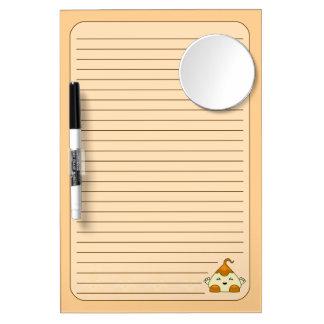 Orange Kawaii Tickle Monster Dry-Erase Board