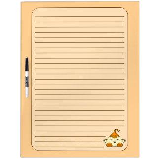 Orange Kawaii Tickle Monster Dry Erase Boards
