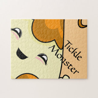 Orange Kawaii Tickle Monster Jigsaw Puzzles