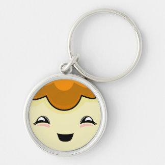 Orange Kawaii Tickle Monster Keychain