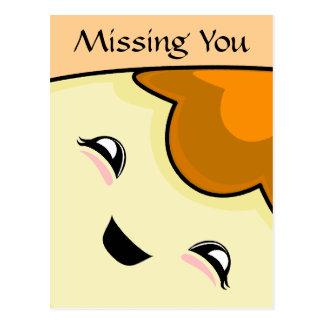 Orange Kawaii Tickle Monster Postcards