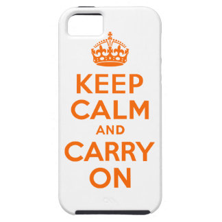 Orange Keep Calm and Carry On iPhone SE/5/5s Case