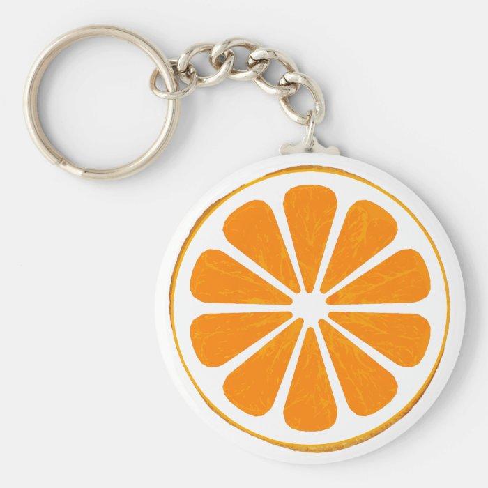 orange. keychain