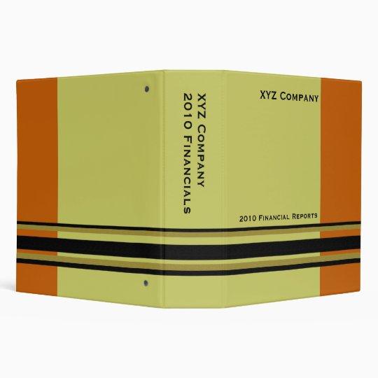 orange khaki  business binder