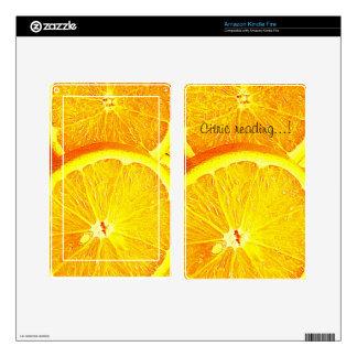 Orange Kindle Fire Decal