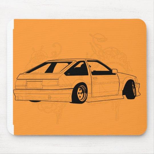 Orange KIS Levin AE86 Mouse Pad