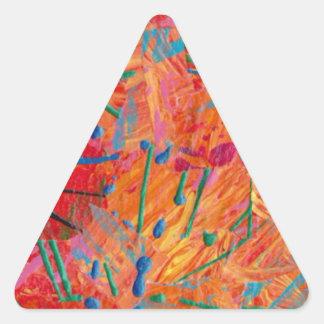 Orange Kiss Triangle Stickers