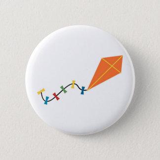 Orange Kite Pinback Button