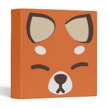 Orange Kitsune Fox 3 Ring Binder