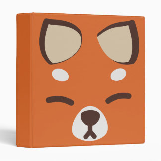 Orange Kitsune Fox 3 Ring Binder