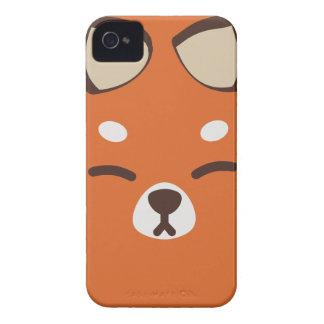 Orange Kitsune Fox Case-Mate iPhone 4 Cases