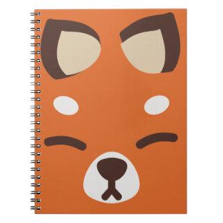 Orange Kitsune Fox Spiral Notebooks