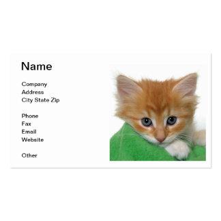 Orange Kitten Business Card