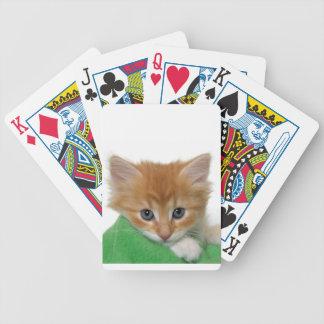 Orange Kitten Cat Playing Cards